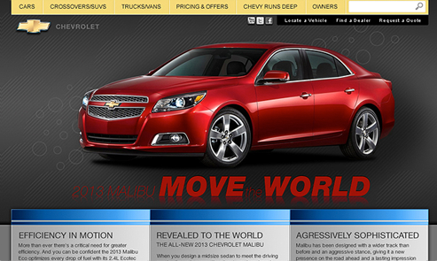 Chevrolet Malibu : Mini-site
